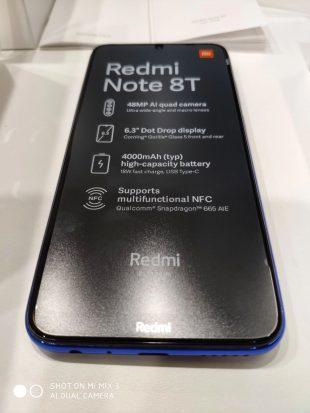 Xiaomi выпустит недорогой Redmi Note 8T с поддержкой NFC