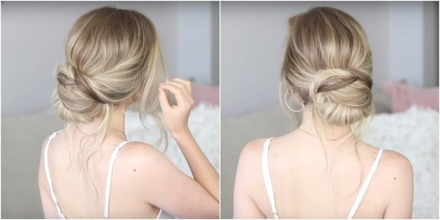 Прически на длинные волосы: низкий структурный пучок