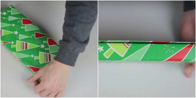 Как упаковать прямоугольный подарок диагональным способом