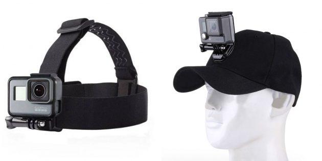 Что подарить маме на день рождения: кепка с креплением для экшен-камеры