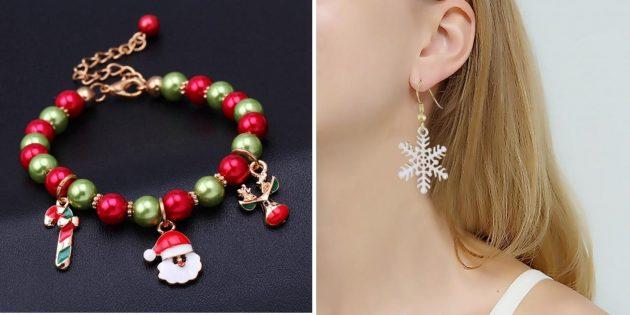 Товары с AliExpress для создания новогоднего настроения: Украшения, браслеты, серьги