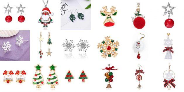 Товары с AliExpress для создания новогоднего настроения: Украшения, серьги,кулоны