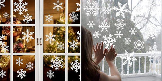 товары с aliexpress, которые помогут создать новогоднее настроение: Декоративные наклейки