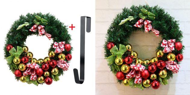 товары с aliexpress, которые помогут создать новогоднее настроение: Рождественский венок