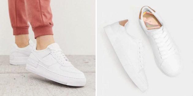 Что подарить маме на день рождения: белые кроссовки