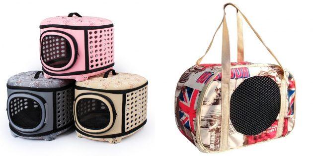 Что подарить маме на день рождения: сумка-переноска на ремне с сетчатой дверцей