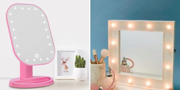 Что подарить маме на день рождения: зеркало со светодиодной подсветкой