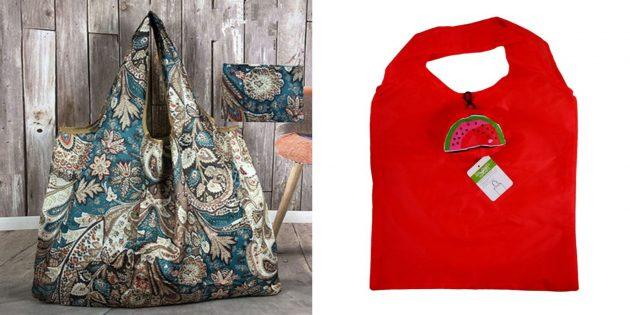 Что подарить маме на день рождения: складная сумка-шопер