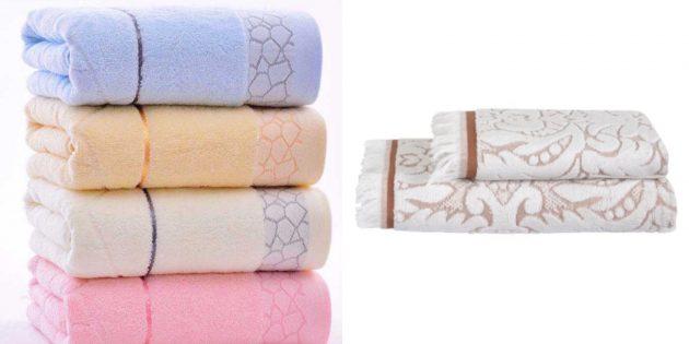 подарок бабушке на день рождения: большое и красивое банное полотенце