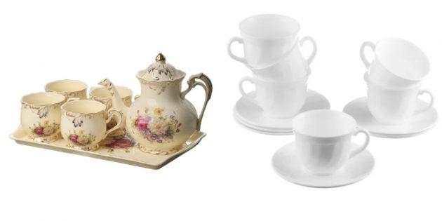 подарок бабушке на день рождения: набор чашек или бокалов