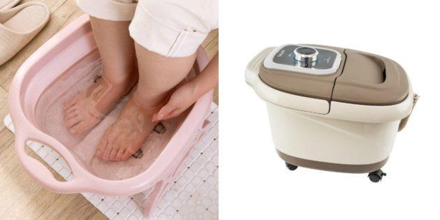 подарок бабушке на день рождения: ванночка для ног с функцией водяного массажа