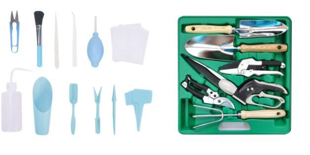 Компактный набор инструментов по уходу за мини-огородом