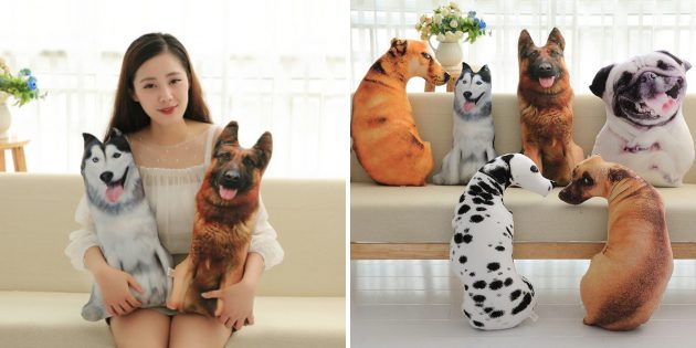 Подушки-собаки