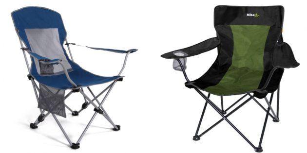 Складной стул с подставкой для стакана