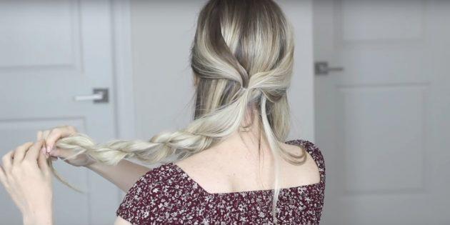 Скрутите среднюю часть волос