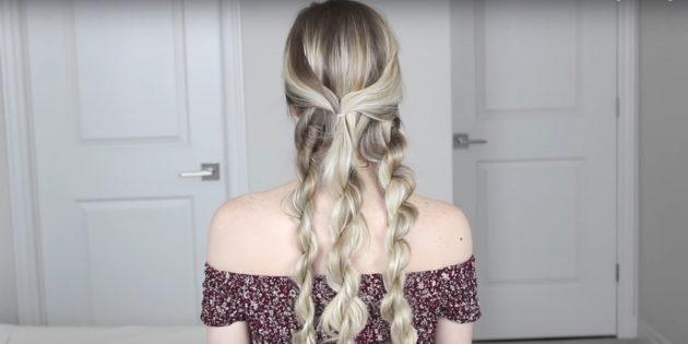 Причёски на длинные волосы: скрутите остальные пряди