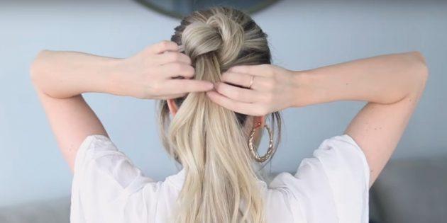 Причёски на длинные волосы: сделайте первый пучок