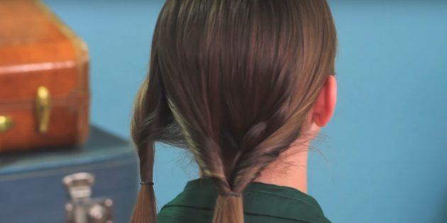 Причёски на длинные волосы: протяните правый хвост