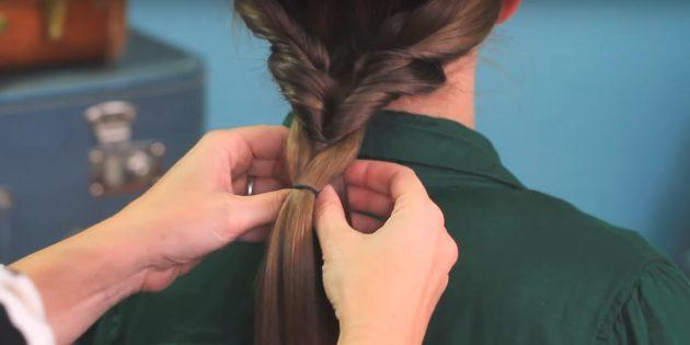 Причёски на длинные волосы: сделайте узор