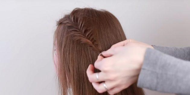Причёски на длинные волосы: заплетите сбоку рыбий хвост