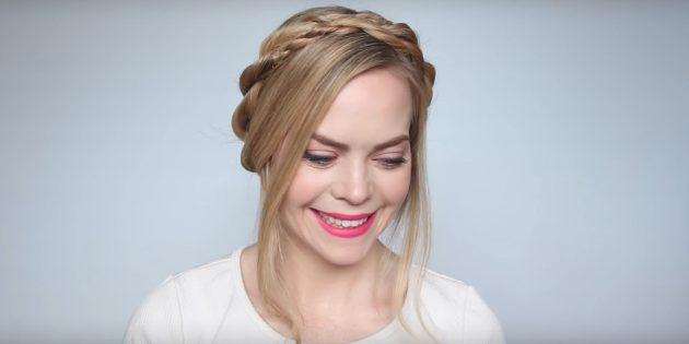 Причёски на длинные волосы: закрепите прядки спереди