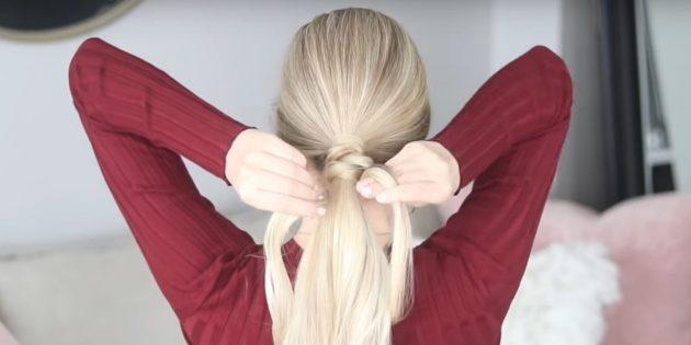 Причёски на длинные волосы: завяжите узел