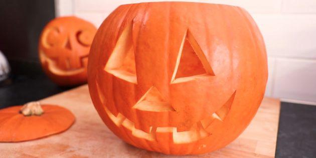 Как сделать тыкву на Хэллоуин своими руками: Вырежьте остальные части