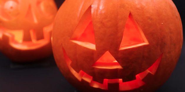 Как сделать тыкву на Хэллоуин своими руками: Поставьте верхушку тыквы