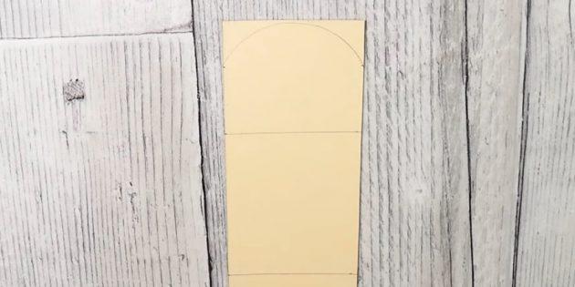 Адвент-календарь своими руками: Сверху сделайте по бокам намётки на расстоянии 2 см от края