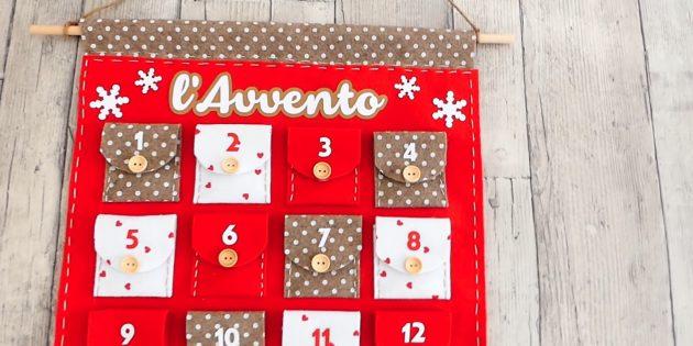 Как сделать адвент-календарь из фетра или ткани