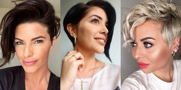 женские стрижки на короткие волосы: отчётливо асимметричная пикси
