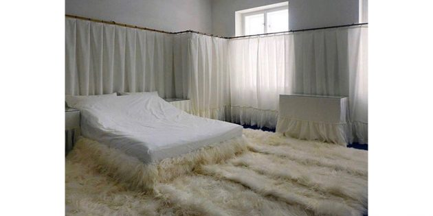 спальня из шерсти