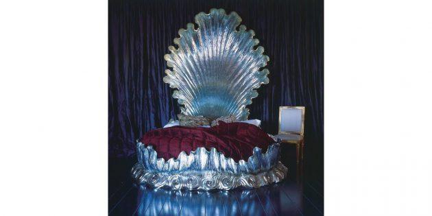 кровать в форме раковины