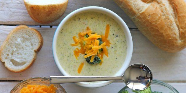 Сырный крем-суп из брокколи: простой рецепт