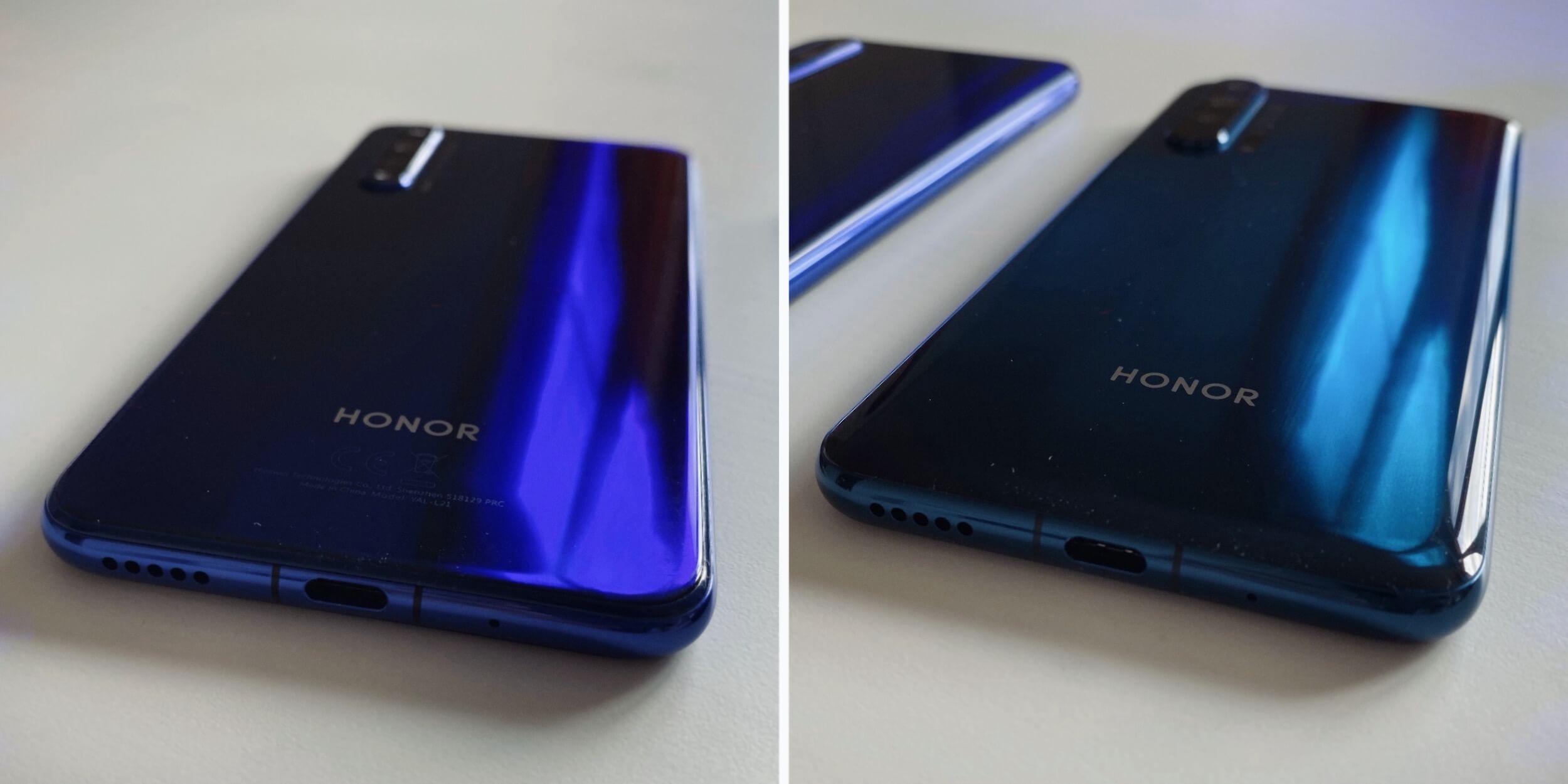 Honor 20 и Honor 20Pro: Задняя панель
