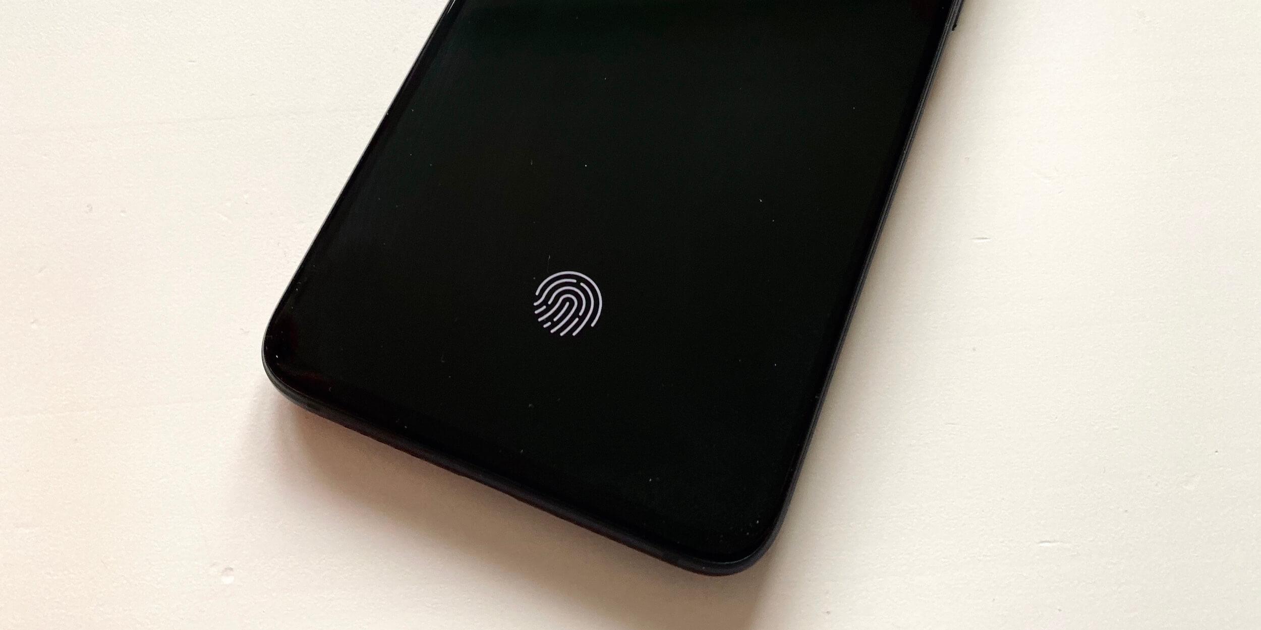Xiaomi Mi 9Lite: сенсор отпечатка