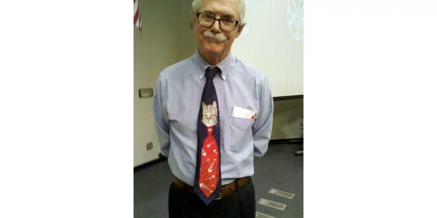 галстук с котиком