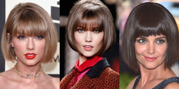 женские стрижки на короткие волосы: классический боб-каре с чёлкой