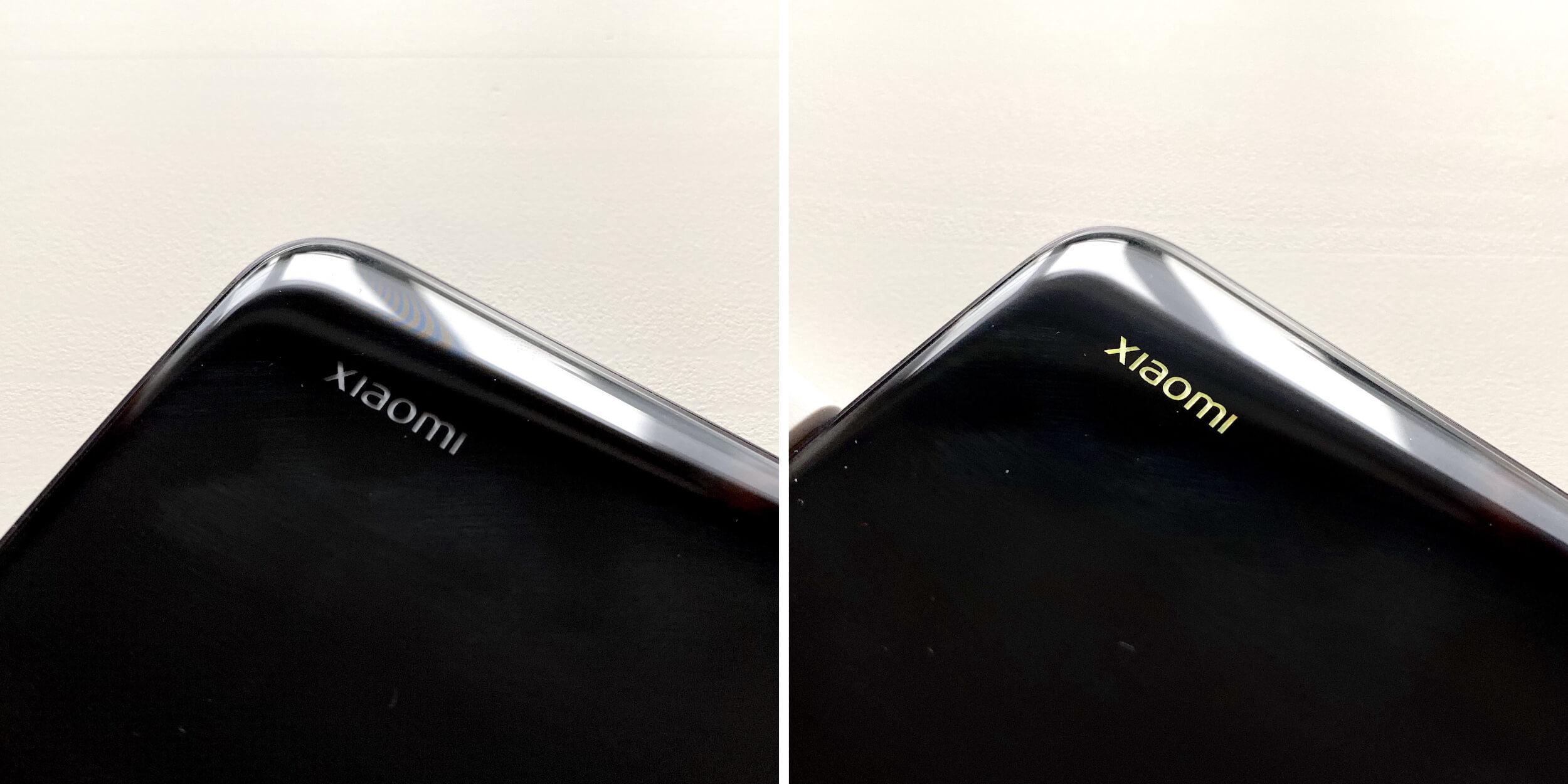 Xiaomi Mi 9Lite: подсветка логотипа
