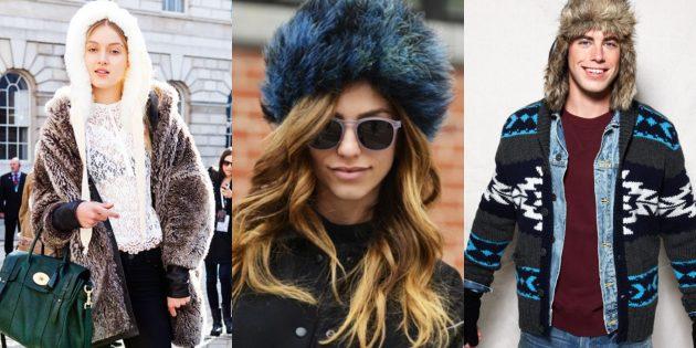 Тёплая пушистая модная шапка — 2019
