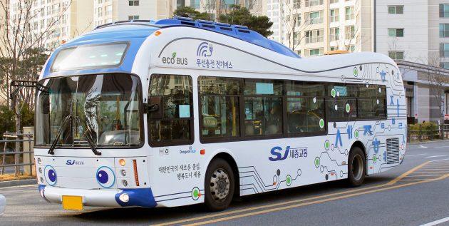 Электроавтобус в умном городе Сеуле