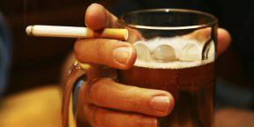 Доказано: сигареты в сочетании с алкоголем увеличивают риск заболевания раком в 30 раз