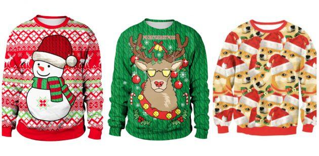 Товары с AliExpress для создания новогоднего настроения: Свитшот