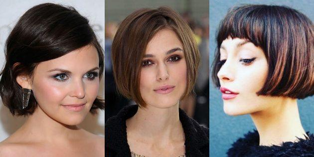 женские стрижки на короткие волосы: укороченный боб