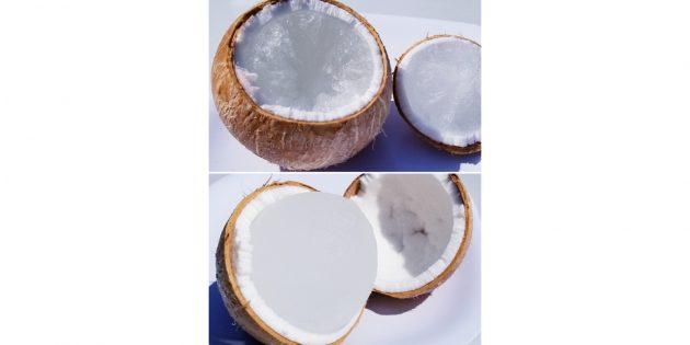 простые лайфхаки: замороженный кокос
