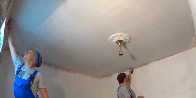 потолок из гипсокартона своими руками: сделайте разметку каркаса