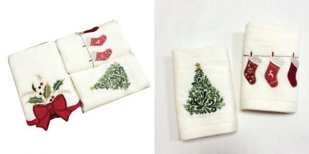 Что подарить маме на Новый год: комплект полотенец