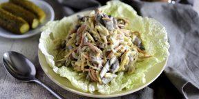 10 классных салатов с солёными огурцами