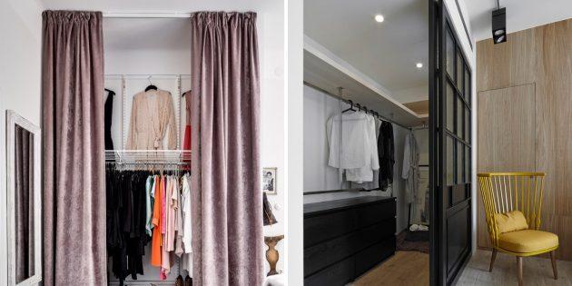 Как сделать гардеробную: установите дверь