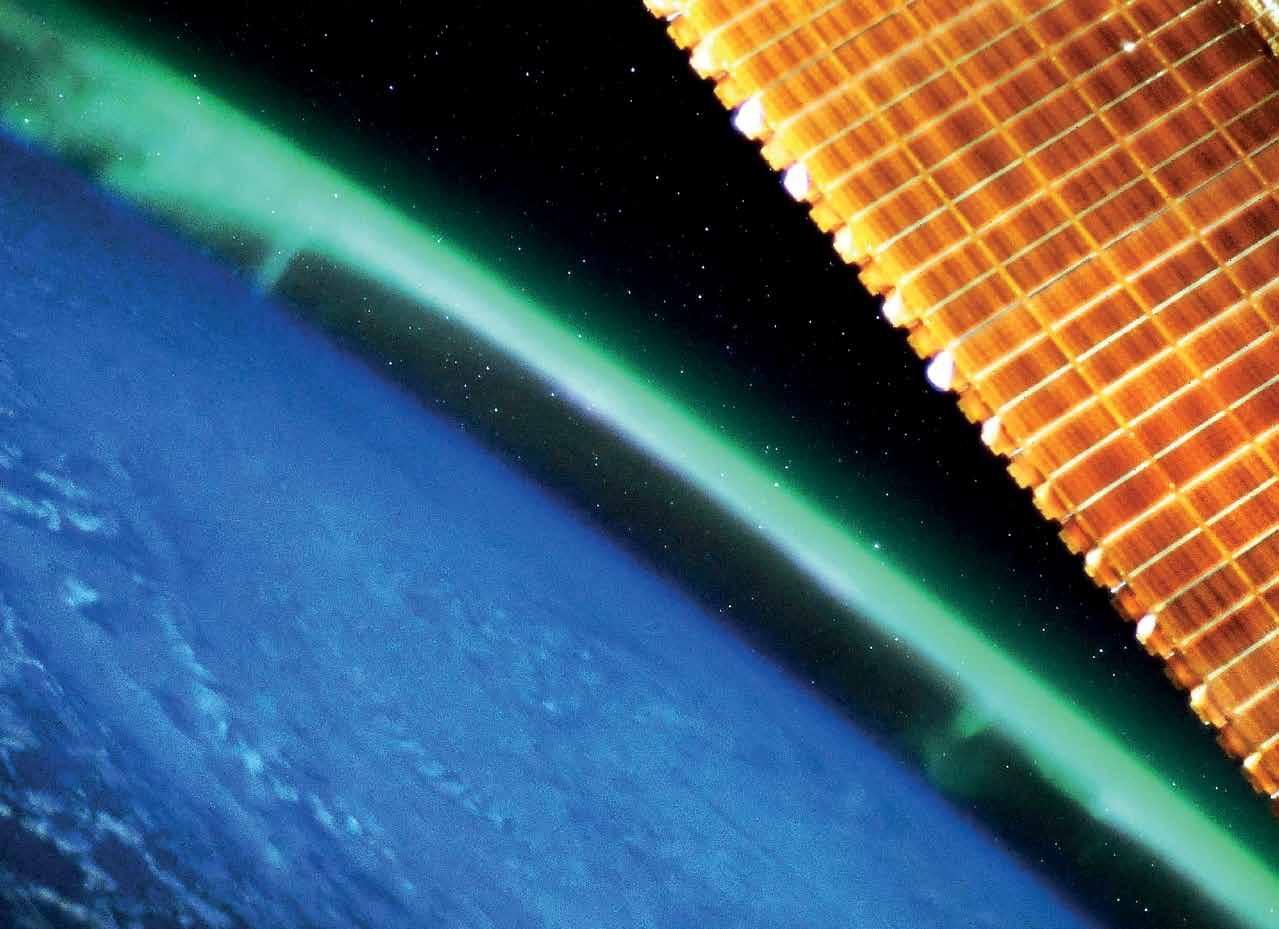 Фото Земли из космоса: полярное сияние